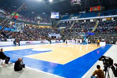Arena del baloncesto Fotografía de archivo libre de regalías
