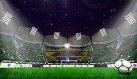 Arena del fútbol Bandera marroquí ilustración del vector