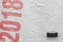 Arena del hielo de la estación de hockey 2018 Fotografía de archivo