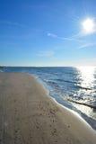 Arena del mar Báltico de la playa Imagenes de archivo