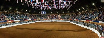 Arena del rodeo panoramica Fotografia Stock Libera da Diritti