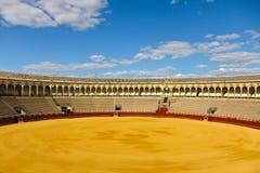 Arena del toro de Sevilla Imagen de archivo libre de regalías