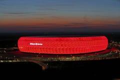 Arena dell'Allianz a Monaco di Baviera, Baviera Fotografia Stock Libera da Diritti