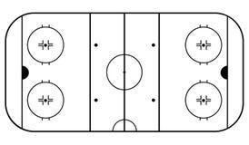 Arena dell'hockey Priorità bassa bianca e nera Illustrazione ENV 10 di vettore immagini stock libere da diritti