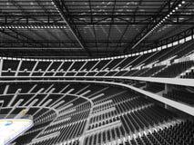 Arena deportiva hermosa para el hockey sobre hielo con los asientos negros y las cajas del VIP Fotografía de archivo libre de regalías
