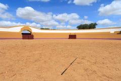 Arena di addestramento del cavallo nell'azienda agricola dell'Alentejo Fotografie Stock Libere da Diritti