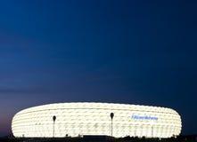 Arena di Allianz alla notte Fotografia Stock Libera da Diritti