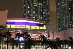 Arena di American Airlines della foto di notte immagini stock libere da diritti