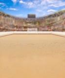 Arena di calcio della spiaggia e spazio della copia Fotografie Stock Libere da Diritti