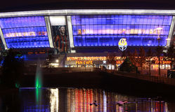 Arena di Donbass di sera Fotografia Stock Libera da Diritti