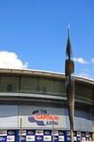Arena di FM e scultura capitali, Nottingham fotografia stock libera da diritti