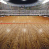 Arena di pallavolo con gli spettatori e lo spazio della copia Fotografia Stock