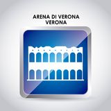 Arena di verona icon. Italy culture design. Vector graphic Royalty Free Stock Photo