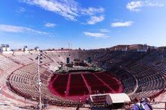 Arena di Verona. Inside the Arena di Verona,roman amphitheater Royalty Free Stock Photos
