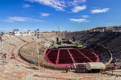 Arena di Verona. Inside the Arena di Verona ,roman amphitheatre Stock Photography