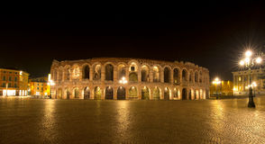 Arena di Verona by Night - Italy Royalty Free Stock Images