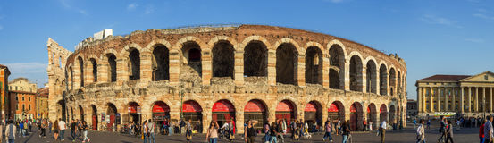 Arena di Verona Panorama Stock Images