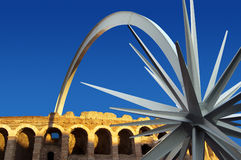 Arena di Verona with star Royalty Free Stock Image