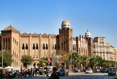 Arena dla fightbulls w Barcelona Hiszpania Zdjęcia Royalty Free