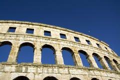 Arena do anfiteatro nos Pula imagem de stock royalty free