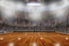 Arena do basquetebol com espaço da cópia Foto de Stock Royalty Free