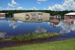Arena do beira-rio na inundação Foto de Stock