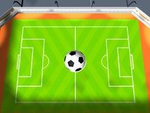 Arena do futebol Imagens de Stock Royalty Free