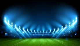 Arena do futebol stadium Vetor ilustração stock