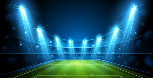 Arena do futebol Vetor ilustração do vetor