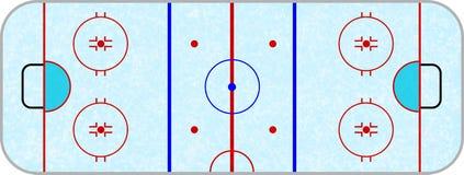 Arena do hóquei em gelo Fotografia de Stock
