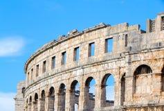 A arena dos Pula, arquitetura romana antiga imagens de stock royalty free