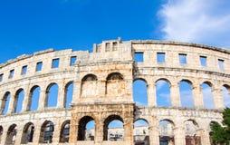 A arena dos Pula, arquitetura romana antiga foto de stock