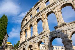A arena dos Pula, arquitetura romana antiga fotos de stock