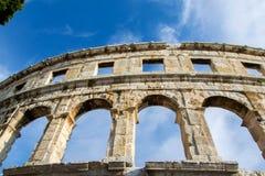 A arena dos Pula, arquitetura romana antiga imagens de stock