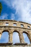 A arena dos Pula, arquitetura romana antiga fotografia de stock royalty free
