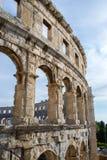 A arena dos Pula, arquitetura romana antiga fotografia de stock