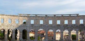 A arena dos Pula, arquitetura romana antiga fotos de stock royalty free