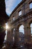 A arena dos Pula, arquitetura romana antiga imagem de stock royalty free