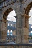 A arena dos Pula, arquitetura romana antiga imagem de stock
