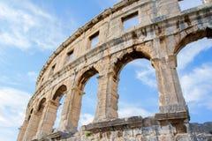 A arena dos Pula, arquitetura romana antiga foto de stock royalty free