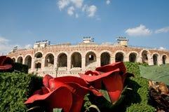 Arena e fiori giganti Fotografie Stock Libere da Diritti