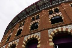 Arena-Einkaufszentrenfassade Barcelonas, Spanien Lizenzfreie Stockbilder