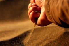 arena en el viento Imágenes de archivo libres de regalías