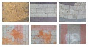 Arena en los adoquines de un color de gris-Borgoña Imágenes de archivo libres de regalías