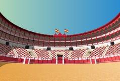 Arena espanhola da tourada Fotografia de Stock