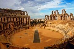 Arena för El Djem royaltyfria bilder