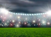 Arena för fotbollstadion Fotografering för Bildbyråer