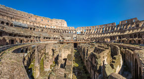 Arena of Flavian Amphitheatre (Colosseum) in Rome, Italy Royalty Free Stock Images