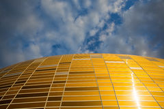 Arena Football Stadium in Gdansk, Poland. GDANSK, POLAND - SEPTEMBER 19: PGE Close up of Arena Statium, a newly built football stadium for Euro 2012 Championship Stock Photos