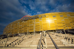 Arena Football Stadium in Gdansk, Poland. GDANSK, POLAND - SEPTEMBER 19: PGE Arena is a newly built football stadium for Euro 2012 Championship. The stadium has Stock Photo